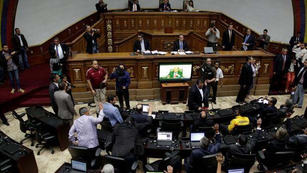 La sesión plenaria de este miércoles en la Asamblea de Venezuela