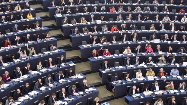 Los miembros del Parlamento Europeo, este miércoles, en Estrasburgo