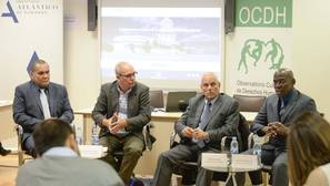 De izquierda a derecha, Jorge Olivera, Alejandro González Raga, Willfredo Vallín y Calixto Gammalame