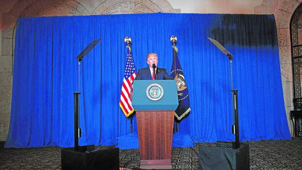 Donald Trump, durante su comparecencia en Florida
