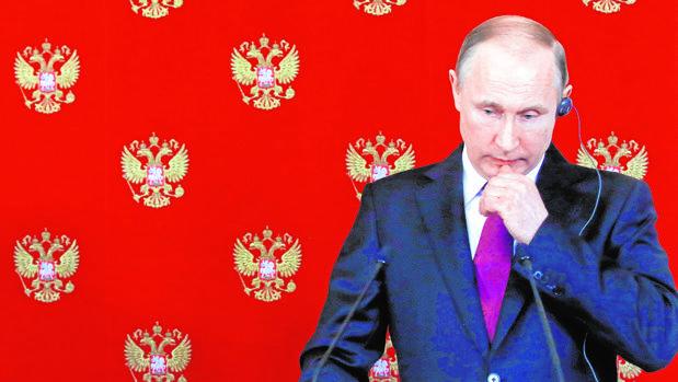 Vladímir Putin, durante una conferencia de prensa hoy en el Kremlin