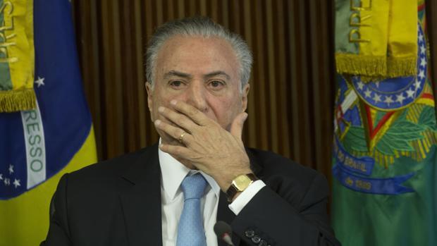 El presidente de Brasil, Michel Temer, este martes en una reunión en el Palacio Presidencial