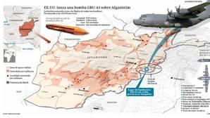 Así fue el lanzamiento de la bomba GBU-43 sobre Afganistán