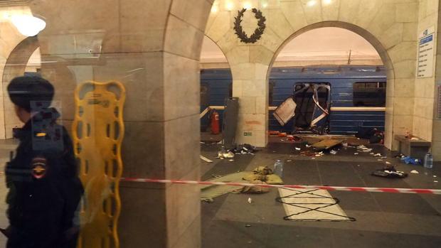Detienen al presunto organizador del atentado contra el metro de San Petersburgo