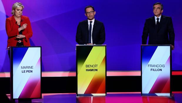Los candidatos reaccionan al atentado en pleno debate televisado
