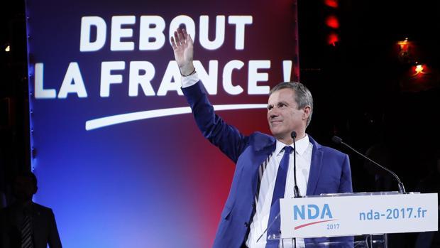 Nicolas Dupont-Aignan, el candidato minoritario que podría dejar sin segunda vuelta a Fillon