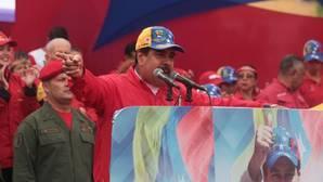 Nicolás Maduro pronuncia un discurso durante una manifestación de apoyo a su figura
