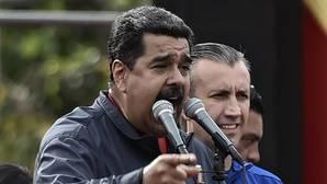Nicolás Maduro junto al vicepresidente Tareck El Aissami en un acto en Caracas