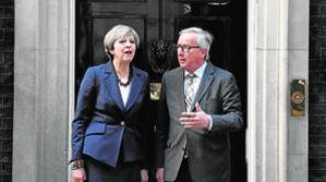 La cena en la que Juncker le puso a May las cosas claras
