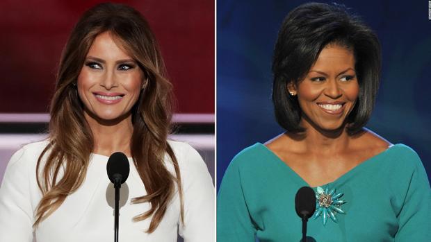 Melania Trump fue acusada de plagiar un discurso pronunciado en campaña electoral por Michelle Obama