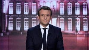 Emmanuel Macron durante uno de los debates televisivos entre candidatos