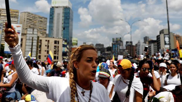 La esposa del opositor venezolano, Lilian Tintori