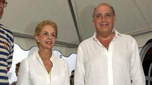 Carolina Herrera y su marido, en una imagen de archivo