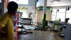 Imagen de dentro de un supermercado saqueado en San Antonio del Táchira, Venezuela