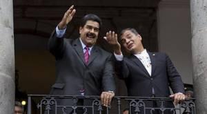 Rafael Correa y Nicolás Maduro, en el Palacio de Gobierno de Quito, en septiembre de 2015