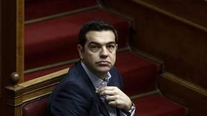 El primer ministro griego, Alexis Tsipras, durante la sesión de control al Gobierno en el Parlamento