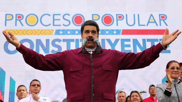 Nicolás Maduro, contra Trump en un acto público