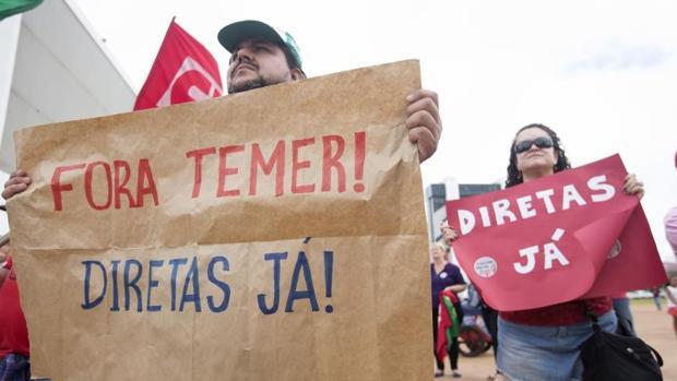 La protesta contra Temer, menos masiva de lo esperado en Brasil