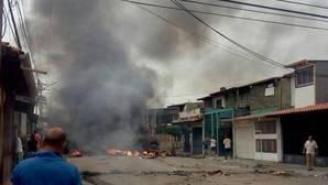 Imagen difundida en Twitter acerca del supuesto incendio en el estado de Barinas, en el oeste de Venezuela