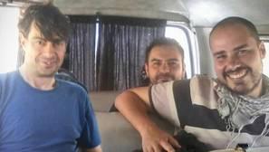 José Manuel López, Ángel Sastre y Antonio Pampliega, en Siria