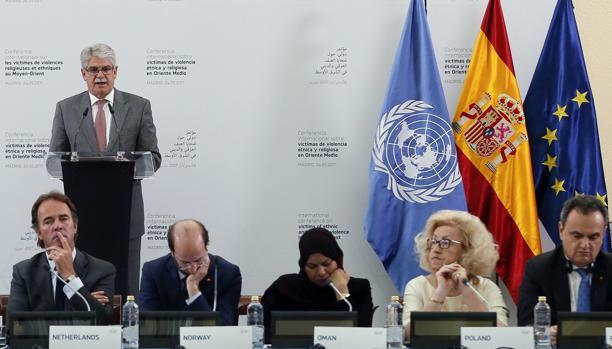 El ministro Alfonso Dastis interviene en la Conferencia Internacional sobre Oriente Medio