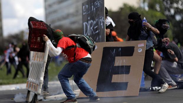 Violentos choques en Brasil entre la Policía y los manifestantes que pedían la dimisión de Temer