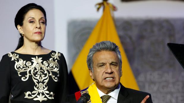Lenín Moreno despierta expectativas con discurso conciliador en su investidura como presidente