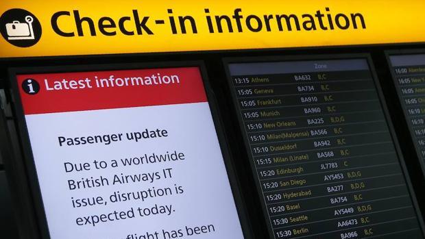 British Airways ya da salida a todos sus vuelos en Heathrow y Gatwick