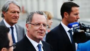 El ministro francés de Cohesión Territorial se dirige a los medios en Deauville, al noroeste de Francia