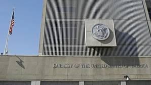 Eexterior de la embajada de EE.UU. en Tel Aviv, Israel