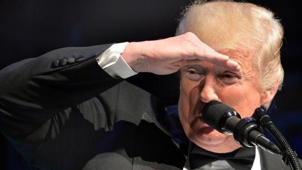 Donald Trump, presidente de Estados Unidos, este domingo en un acto benéfico en honor a Abraham Lincoln
