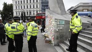 Imagen de archivo de la Policía británica en el lugar de los atentados de Londres