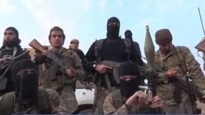 Captura de un vídeo de yihadistas encapuchados