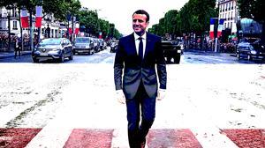 El presidente Emmanuel Macron, el paasdo mes de mayo