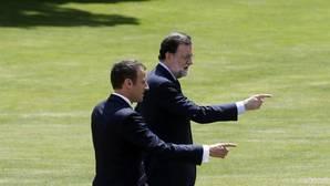 El presidente francés Yel jefe del Gobierno español, en su encuentro esta semana
