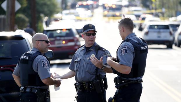 Imagen de archivo de policías estadounidenses