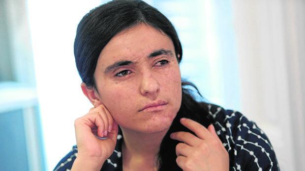 Lamia Haji Bachar, durante la entrevista ayer en Madrid