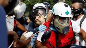 David Vallenilla, de 22 años, mortalmente herido en una protesta en Caracas