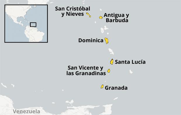 Los seis países independientes de la Organización de los Estados del Caribe Oriental (OECO)