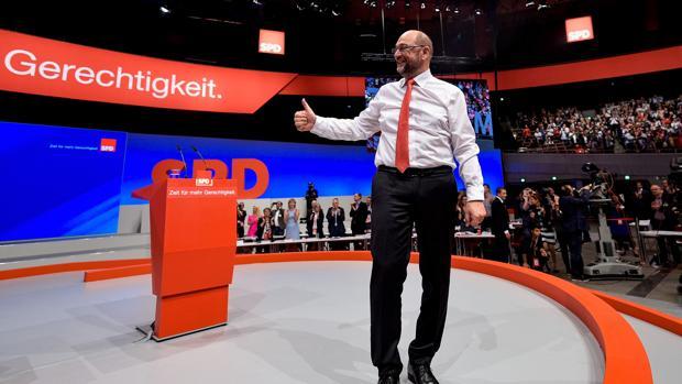 Martin Schulz, en un mitin del SPD en Dortmund