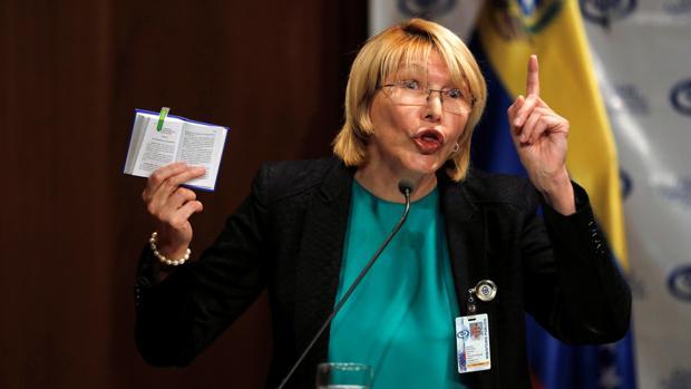 La fiscal general, Luisa Ortega, principal cara visible de la disidencia en el seno del chavismo