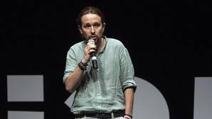 El secretario general de Podemos, Pablo Iglesias, durante la presentación del documental «Las cloacas de Interior»
