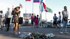 Imagen del paseo de los ingleses, de Niza, días después del atentado del 14 de julio de 2016