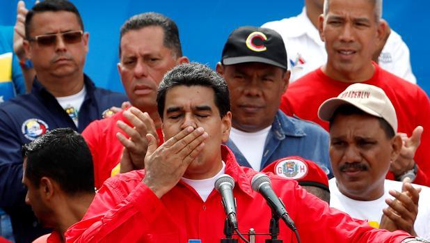 Nicolás Maduro durante el cierre de campaña por la Constituyente