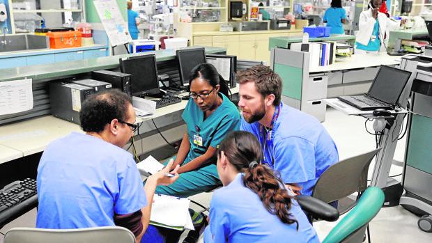 Unidad de cuidados intensivos del Hospital infantil Holtz, en Miami (Florida)