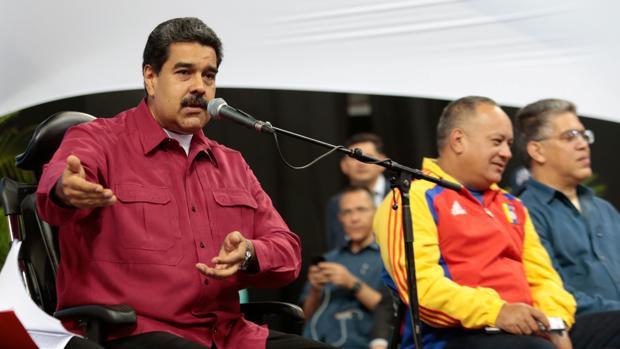 Nicolás Maduro se dirige a los constituyentes ante uno de los hombres fuertes del régimen, Diosdado Cabello