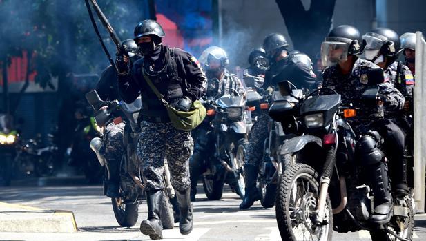 Las fuerzas de seguridad dispersan una nueva marcha contra la Constituyente en Caracas