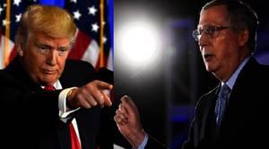 Trump culpa al Senador McConell por el fracaso de la reforma sanitaria