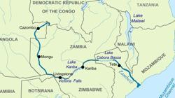Mapa que muestra dónde se ubica Malawi