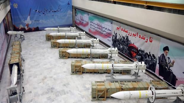 Misiles Sayyad-3 mostrados por el Ministro de Defensa de Irán el pasado mes de julio